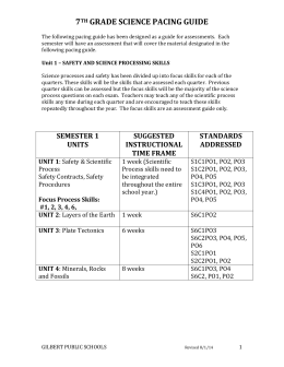 2015-2016 7th Grade Science Pacing Guide
