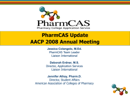 Meeting: PharmCAS Workshop - Pre