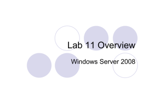 Lab 11 - WS2008 Overview