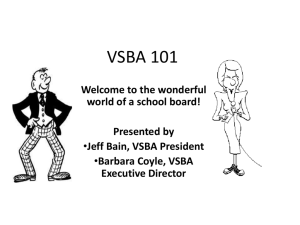 VSBA 101 - Virginia School Boards Association