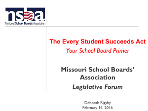 State Association MEMBERS - Missouri School Boards Association