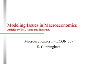 Modeling Issues in Macroeconomics Articles by Bell and Hahn