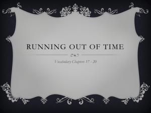 Running Out of Time Ch. 17-20 Vocabulary Power Point