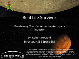 Real Life Survivor - NSBE Houston Space Chapter