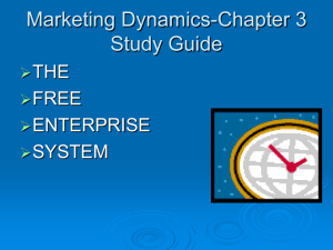 Marketing Dynamics-Chapter 3 Study Guide