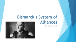 Bismarck's System of Alliances
