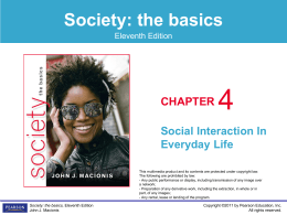 Ch04 Social Interaction In Everyday Life