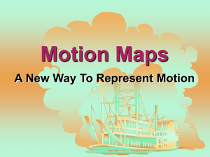 The MOTION MAP would look like this
