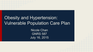 Obesity and Hypertension: Vulnerable Population Care Plan