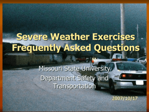 Severe Weather Exercises Frequently Asked Questions