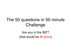 The 50 questions in 50 minute Challenge