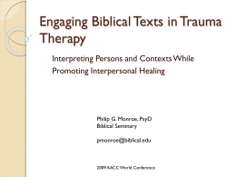 Engaging Biblical Texts in Therapy