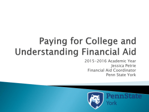 Financial Aid Night Presentation 2015