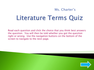 Literature Terms Quiz