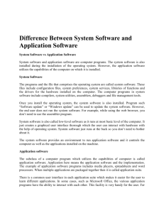 System Software - My Web Application