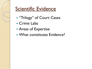 Forensic Science: Introduction