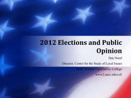 Elections and Public Opinion, 2012