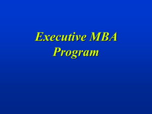 mba program - Personal.kent.edu