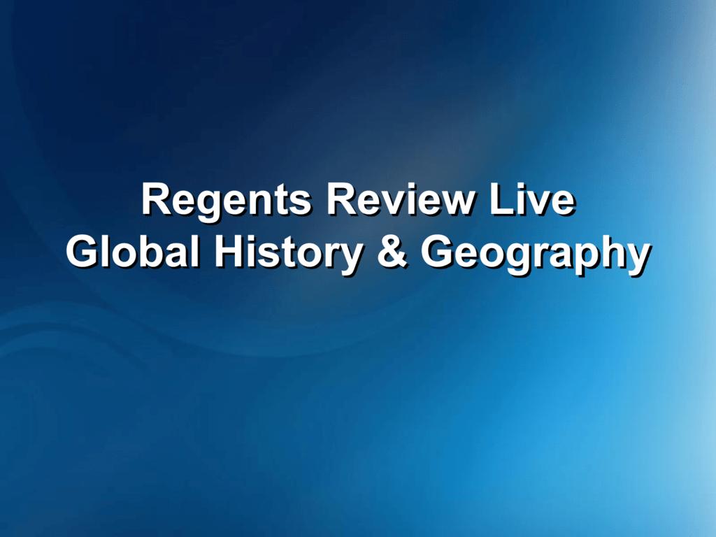 us history regents essay review