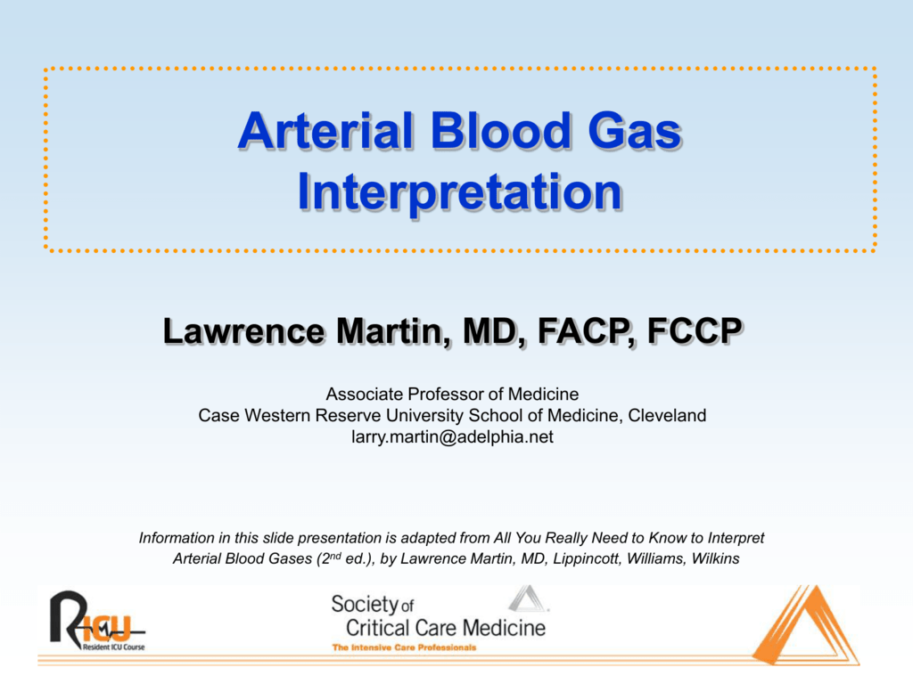 interpretation of arterial blood gases - powerpoint