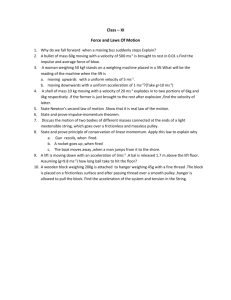Class – XI Force and Laws Of Motion Why do we fall forward when a