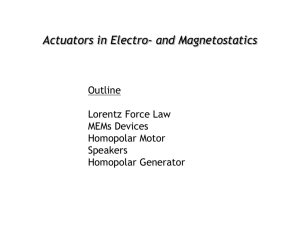 Forces in magnetostatics (actuators) (PPT - 2.4MB)