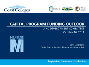 Capital Funding Outlook