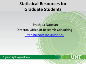 Statistical Resources for Graduate Students