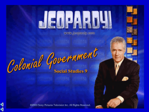 SS9 colonial govt jeopardy