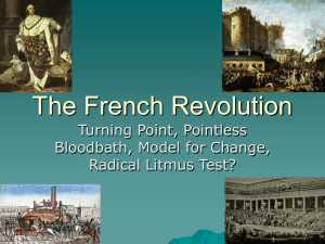 The French Revolution - Hinsdale Central High School