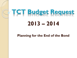 TCT Budget Request - E