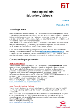 Agenda Item 16 - External Funding Opportunities Annex A