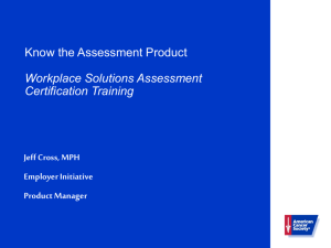 Workplace Solutions Assessment
