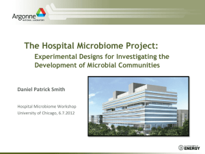 PowerPoint - Hospital Microbiome Project