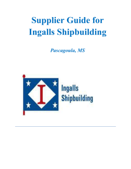 Supplier Guide - Huntington Ingalls Industries