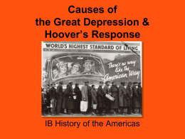 Causes of the Great Depression - George Washington High School