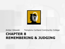 chapter 8 remembering & judging - Home