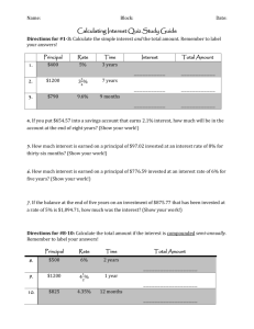 Simple and Compound Interest Worksheet