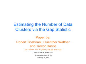 Estimating the Number of Data Clusters via the Gap Statistics