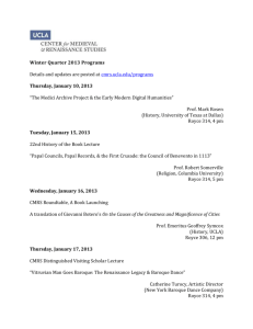 Winter Quarter 2013 Programs Details and updates are posted at