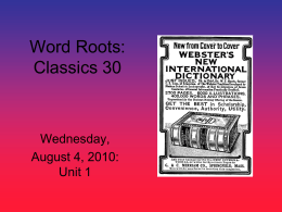 Wednesday, August 4 (PowerPoint Format)