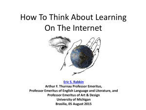 How To Think About Learning On The Internet
