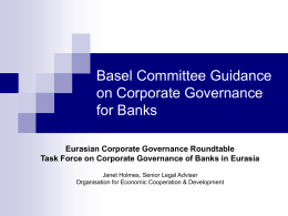Basel Committee Guidance on Corporate Governance for