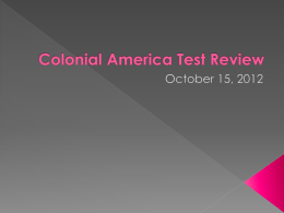 Colonial America Test Review