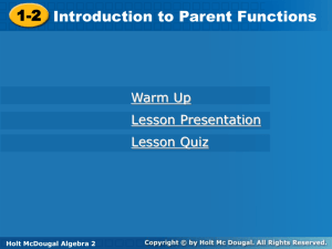 1.2 Parent Functions