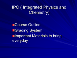 IPC ( Integrated Physics and Chemistry)