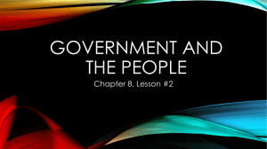 8.2 Government and the People