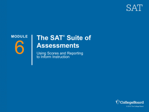 Teacher Training for the Redesigned SAT: Using Scores and