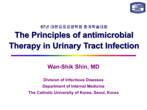 Principles of antimicrobial therapy in the field of UTI