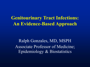 Genitourinary Tract Infections - UCSF Office of Continuing Medical